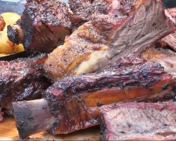 BBQ Beef Ribs smoked on the Grill