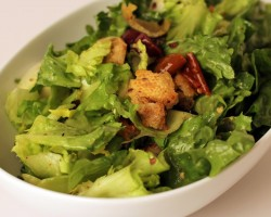 Escarole Salad with Olives and Homemade Croutons – Laura in the Kitchen Ep 258