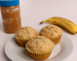 Peanut Butter & Banana Muffins Recipe – Laura Vitale – Laura in the Kitchen Episode 410
