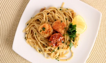 Scallop Scampi over Linguine Recipe – Laura Vitale – Laura in the Kitchen Episode 534