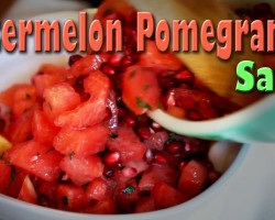 Watermelon Pomegranate Salad: Raw Food Vegan Recipe